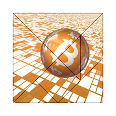 Network Bitcoin Currency Connection Acrylic Tangram Puzzle (6  X 6 )