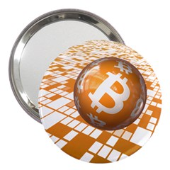 Network Bitcoin Currency Connection 3  Handbag Mirrors
