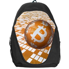 Network Bitcoin Currency Connection Backpack Bag