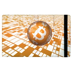 Network Bitcoin Currency Connection Apple Ipad 3/4 Flip Case