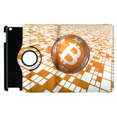 Network Bitcoin Currency Connection Apple Ipad 2 Flip 360 Case
