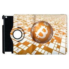 Network Bitcoin Currency Connection Apple Ipad 3/4 Flip 360 Case