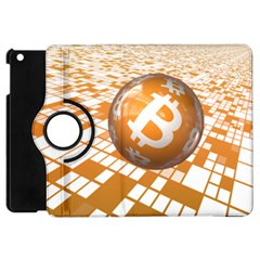 Network Bitcoin Currency Connection Apple Ipad Mini Flip 360 Case