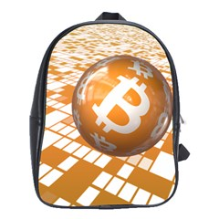 Network Bitcoin Currency Connection School Bags (xl)