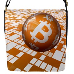 Network Bitcoin Currency Connection Flap Messenger Bag (s)