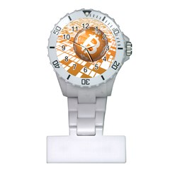 Network Bitcoin Currency Connection Plastic Nurses Watch