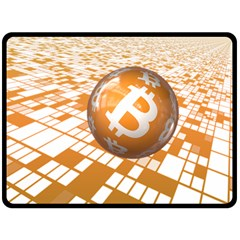 Network Bitcoin Currency Connection Double Sided Fleece Blanket (large)