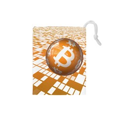 Network Bitcoin Currency Connection Drawstring Pouches (small)