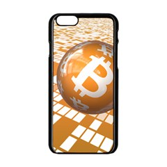 Network Bitcoin Currency Connection Apple Iphone 6/6s Black Enamel Case