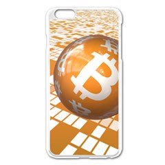 Network Bitcoin Currency Connection Apple iPhone 6 Plus/6S Plus Enamel White Case