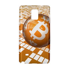 Network Bitcoin Currency Connection Samsung Galaxy Note 4 Hardshell Case