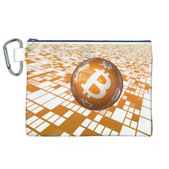 Network Bitcoin Currency Connection Canvas Cosmetic Bag (xl)