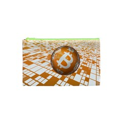 Network Bitcoin Currency Connection Cosmetic Bag (xs)