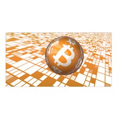 Network Bitcoin Currency Connection Satin Shawl