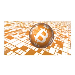 Network Bitcoin Currency Connection Satin Wrap