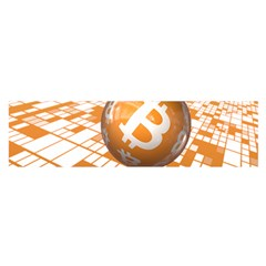 Network Bitcoin Currency Connection Satin Scarf (oblong)