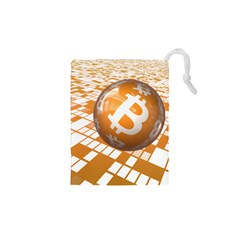 Network Bitcoin Currency Connection Drawstring Pouches (xs)