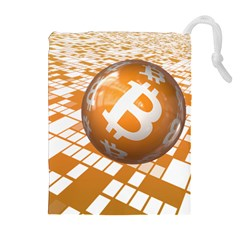 Network Bitcoin Currency Connection Drawstring Pouches (extra Large)