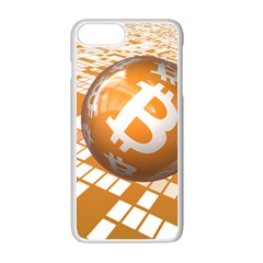 Network Bitcoin Currency Connection Apple Iphone 7 Plus White Seamless Case