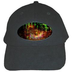 Radar Kaleidoscope Pattern Black Cap