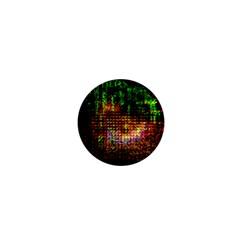 Radar Kaleidoscope Pattern 1  Mini Magnets