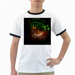 Radar Kaleidoscope Pattern Ringer T Shirts