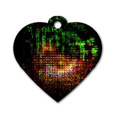 Radar Kaleidoscope Pattern Dog Tag Heart (two Sides)