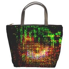 Radar Kaleidoscope Pattern Bucket Bags