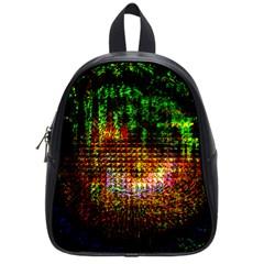 Radar Kaleidoscope Pattern School Bags (small)
