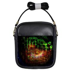 Radar Kaleidoscope Pattern Girls Sling Bags