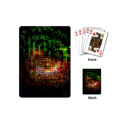 Radar Kaleidoscope Pattern Playing Cards (mini)