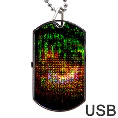 Radar Kaleidoscope Pattern Dog Tag Usb Flash (two Sides)