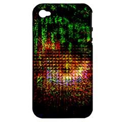Radar Kaleidoscope Pattern Apple Iphone 4/4s Hardshell Case (pc+silicone)