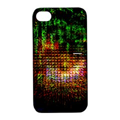 Radar Kaleidoscope Pattern Apple Iphone 4/4s Hardshell Case With Stand