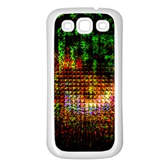 Radar Kaleidoscope Pattern Samsung Galaxy S3 Back Case (white)