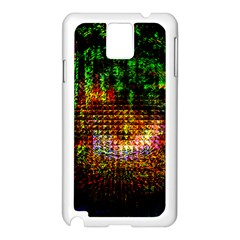 Radar Kaleidoscope Pattern Samsung Galaxy Note 3 N9005 Case (white)
