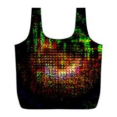 Radar Kaleidoscope Pattern Full Print Recycle Bags (l)