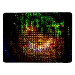 Radar Kaleidoscope Pattern Samsung Galaxy Tab Pro 12 2  Flip Case