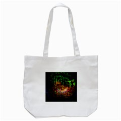 Radar Kaleidoscope Pattern Tote Bag (white)