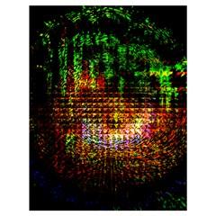 Radar Kaleidoscope Pattern Drawstring Bag (large)