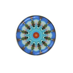 Pattern Blue Brown Background Hat Clip Ball Marker