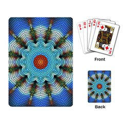 Pattern Blue Brown Background Playing Card