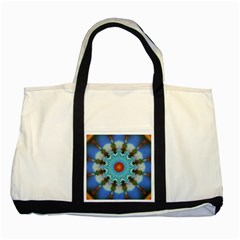 Pattern Blue Brown Background Two Tone Tote Bag