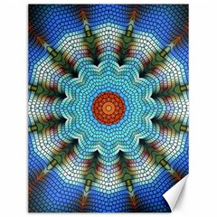 Pattern Blue Brown Background Canvas 12  X 16