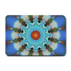 Pattern Blue Brown Background Small Doormat