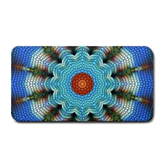 Pattern Blue Brown Background Medium Bar Mats