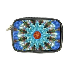 Pattern Blue Brown Background Coin Purse