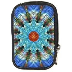 Pattern Blue Brown Background Compact Camera Cases
