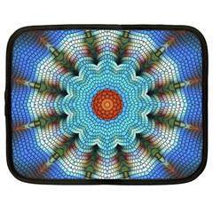 Pattern Blue Brown Background Netbook Case (xxl)