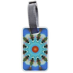 Pattern Blue Brown Background Luggage Tags (one Side)